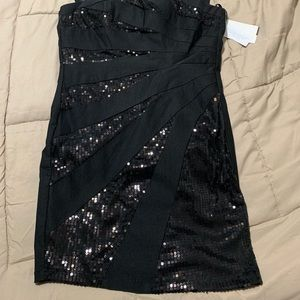 City Triangles Dresses - Little black dress with shimmer